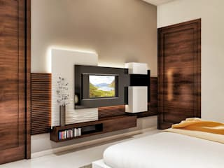 Lcd panel same as like bed design:   by Square Designs