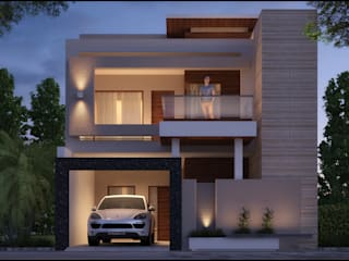 Mr. Aggarwal Modern houses by Pixel Works Modern
