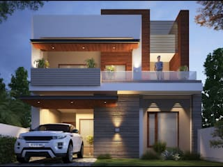 Mr. Goyal Pixel Works Modern houses Beige