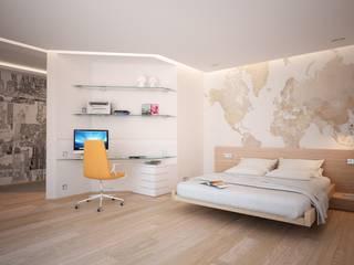 """Квартира """"Северная Европа"""": Спальни в . Автор – Grafit Architects, Минимализм"""