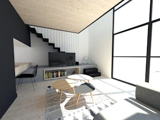 Extensions pour des chambres dhôtes Salon minimaliste par La Fable Minimaliste