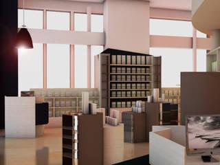 Vue de côté - meuble de présentation et de stockage:  de style  par Ab consultant