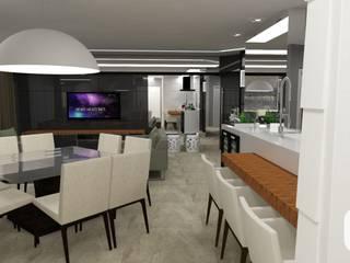 Projeto de Reforma de Apartamento Salas de estar modernas por Dias & Peralta Arquitetos Moderno