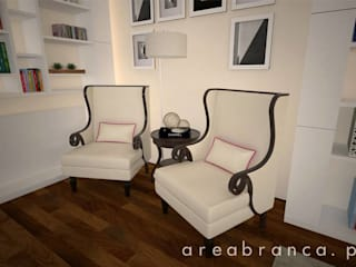 Projeto Sala JM Salas de estar modernas por Areabranca Moderno