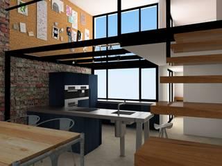 ESTUDIO BAO ARQUITECTURA Industrial style kitchen