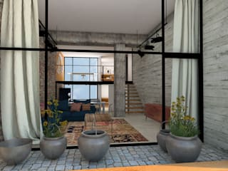 LOFT STYLE: Terrazas de estilo  de ESTUDIO BAO ARQUITECTURA