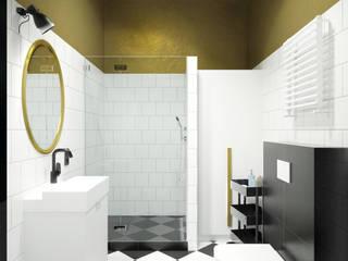 Projekt wnętrza apartamentów pod wynajem_ul. św. Łazarza_kraków Modern Bathroom by enem.studio Modern