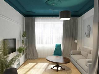 Projekt wnętrza apartamentów pod wynajem_ul. św. Łazarza_kraków Modern Living Room by enem.studio Modern