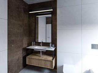 Projekt_ wnętrza domu_modlnica Modern Bathroom by enem.studio Modern