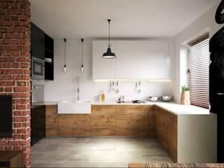 ul. Głowackiego Modern Kitchen by enem.studio Modern