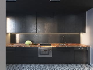 ul. Czapinskiego, kraków Modern Kitchen by enem.studio Modern