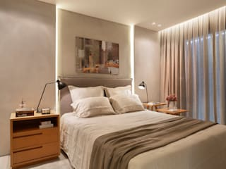Apartamento decorado Calper Modern style bedroom by Gisele Taranto Arquitetura Modern