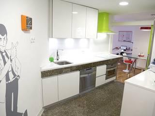 Nhà bếp phong cách hiện đại bởi Línea 3 Cocinas Madrid Hiện đại
