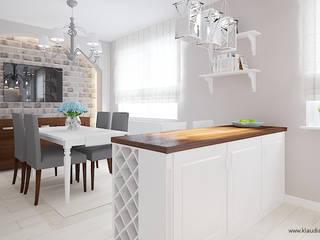 Eclectic style dining room by Klaudia Tworo Projektowanie Wnętrz Sp. z o.o. Eclectic