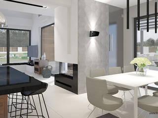 Modern Dining Room by Klaudia Tworo Projektowanie Wnętrz Sp. z o.o. Modern
