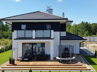 Realizacja projektu Cyprys: styl , w kategorii Domy zaprojektowany przez Biuro Projektów MTM Styl - domywstylu.pl