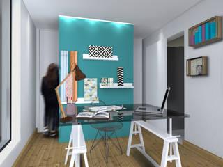Création d'un bureau professionnel dans l'extension: Bureau de style  par cetsarchitectureinterieure