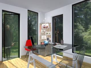 bureau: Bureau de style  par cetsarchitectureinterieure