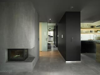 industrial style corridor, hallway & stairs by MINIMOO Architektura Wnętrz Industrial