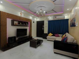 Living Room:  Living room by Kriyartive Interior Design
