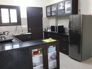 aashita modular kitchen Cocinas de estilo moderno Tablero DM Acabado en madera
