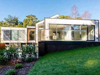 18 Bury Road, Branksome Park David James Architects & Partners Ltd Nowoczesne domy