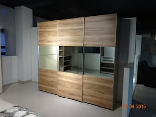 wordrobe  sliding : mediterranean  by aashita modular kitchen,Mediterranean