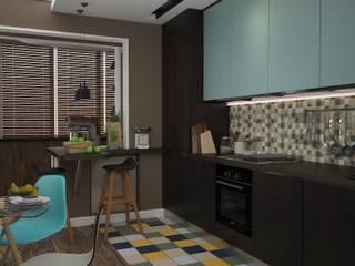 Кухня/столовая,совмещенная с лоджией Кухня в стиле лофт от DS Fresco Лофт