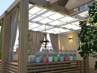 Веранда в коттедже Веранда и терраса в стиле кантри от DS Fresco Кантри