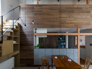 ALTS DESIGN OFFICE Rustic style kitchen Wood Wood effect