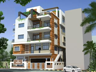 A.K. Singh residence Asian style houses by Nirman Architects Asian