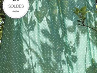 Solde Rideaux à pois Vert:  de style  par COSY DECO