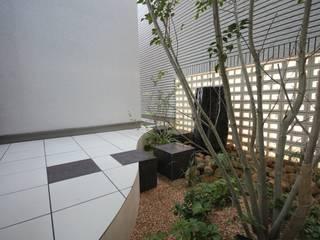 水琴窟の中庭 オリジナルな 家 の 蒼園(しょうえん)/Shoen Design Assiciates オリジナル