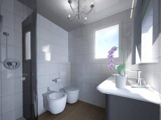Un bagno classico e chic: Bagno in stile in stile classico di Carla Costa
