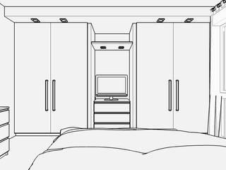 Casa S - Progetto camera matrimoniale: Camera da letto in stile in stile Moderno di Carla Costa