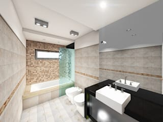 모던스타일 욕실 by T.F | ARQuitectura y DIseño 모던