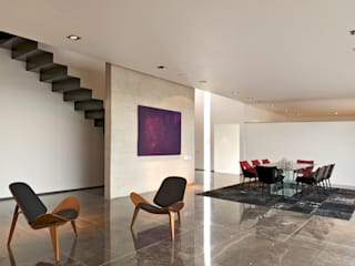 Casa X Salones modernos de Agraz Arquitectos S.C. Moderno