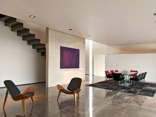 Casa X: Salas de estilo  por Agraz Arquitectos S.C.