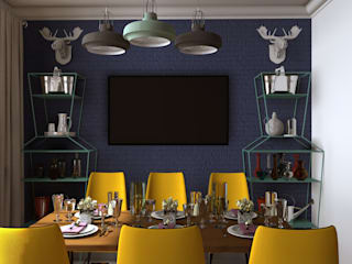 Eclectic style dining room by Interika Eclectic