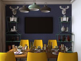 Стрелок Столовая комната в эклектичном стиле от Interika Эклектичный