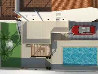 Reorganización espacio exterior vivienda y reforma fachada Jardines de estilo mediterráneo de Mireia Cid Mediterráneo