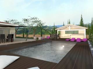 Construction d'une piscine moderne, projet 3D réHome Piscine moderne