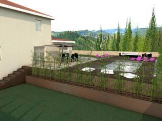 Construction d'une piscine moderne, projet 3D réHome Piscine asiatique