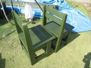 ガーデンチェアーを作る: 阿部建設が手掛けたです。