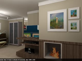 Living room by Studio Bene Arquitetura,