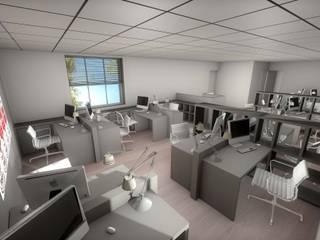 Projet de réhabilitation d'une maison en espace bureau contemporain - Lyon réHome Espaces de bureaux modernes