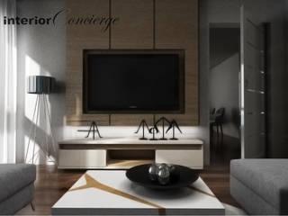 Mieszkanie na Ursynowie Nowoczesny salon od InteriorConcierge Nowoczesny