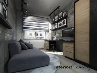Mieszkanie na Ursynowie Nowoczesna sypialnia od InteriorConcierge Nowoczesny