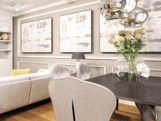 Salon Romantyczny: styl , w kategorii Jadalnia zaprojektowany przez InteriorConcierge