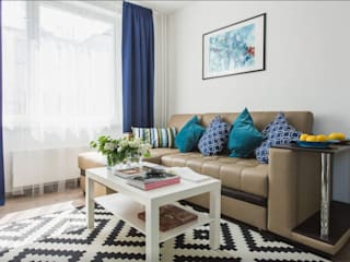 Гостиная после ремонта:  в . Автор – L'Essenziale Home Designs
